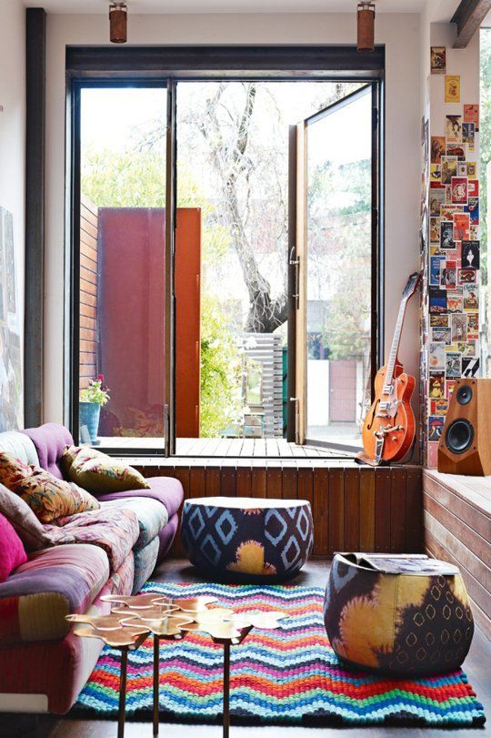 Colorfull Bohemian Style Apartment Of Cécile Figuette: 5 Bohemian Home Decor Ideas- Rustic Folk Weddings