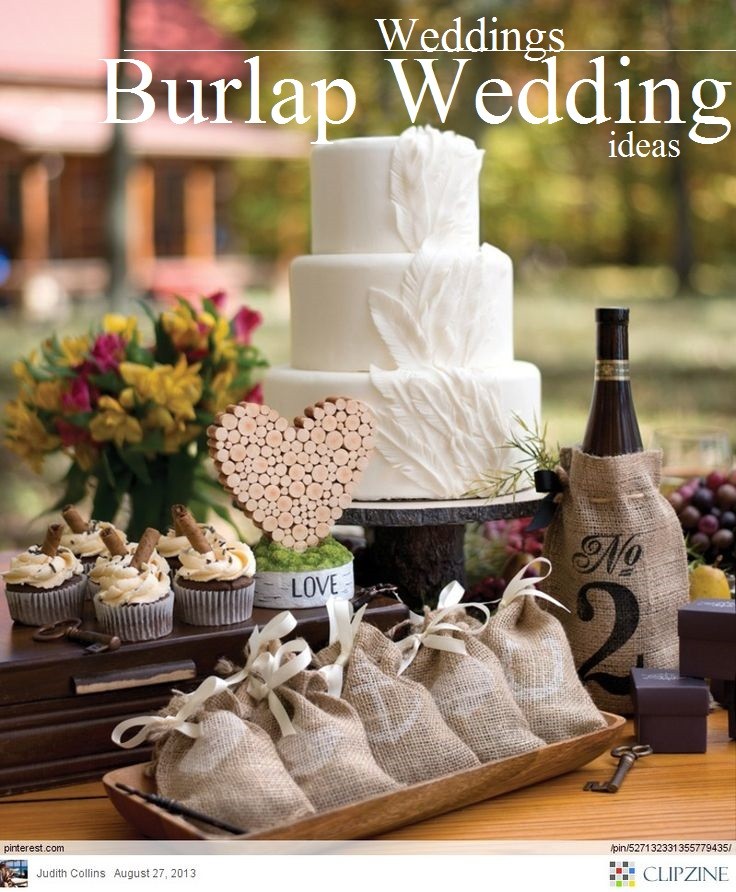 burlap weddings ideas/ www.rusticfolkweddings.com